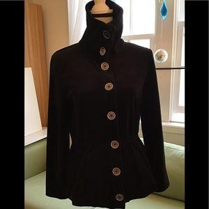 🇦🇷Jones NY black parka cardigan with pockets. PS